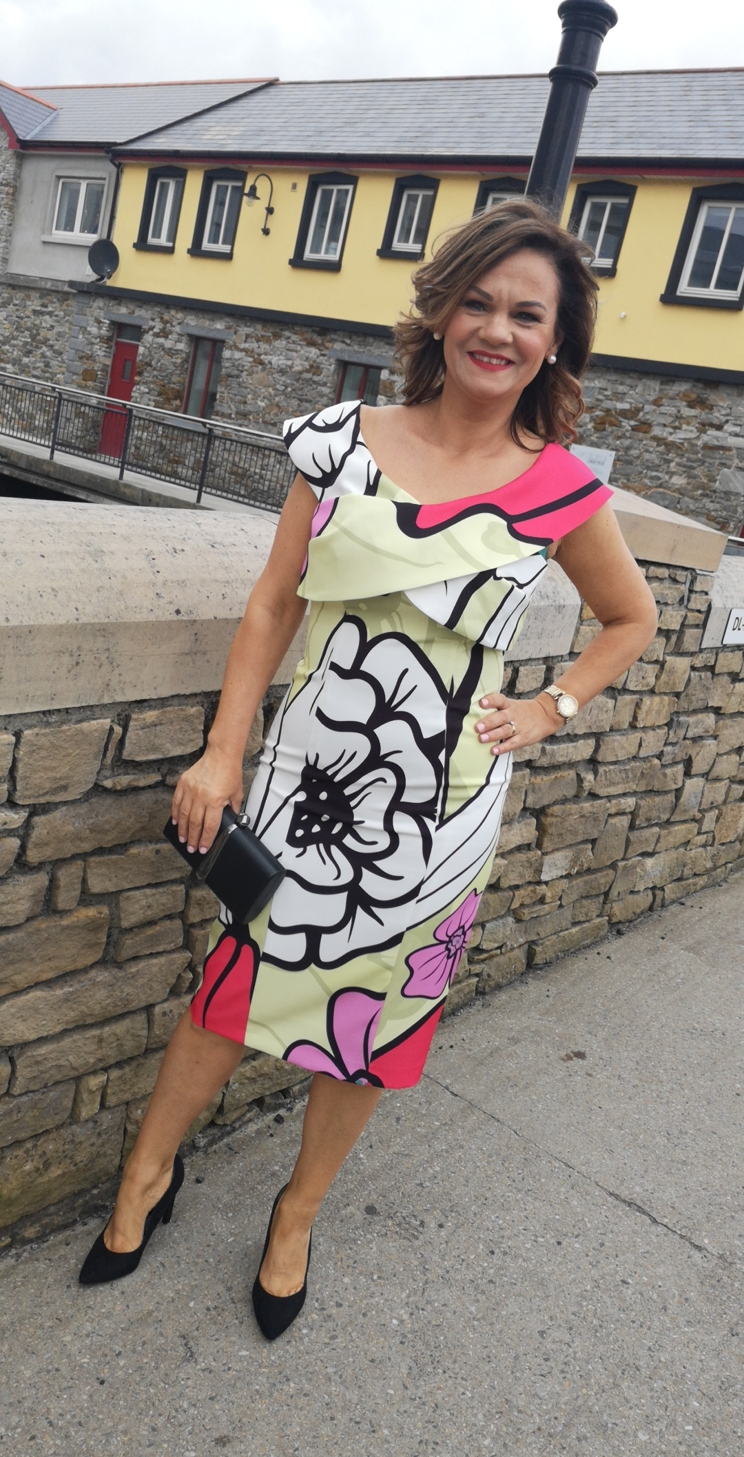 Multi colour printed dress
